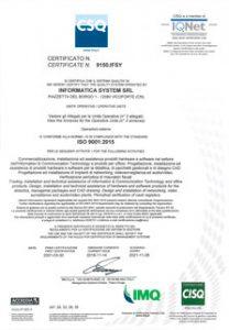 Certificazione CSQ Informatica System